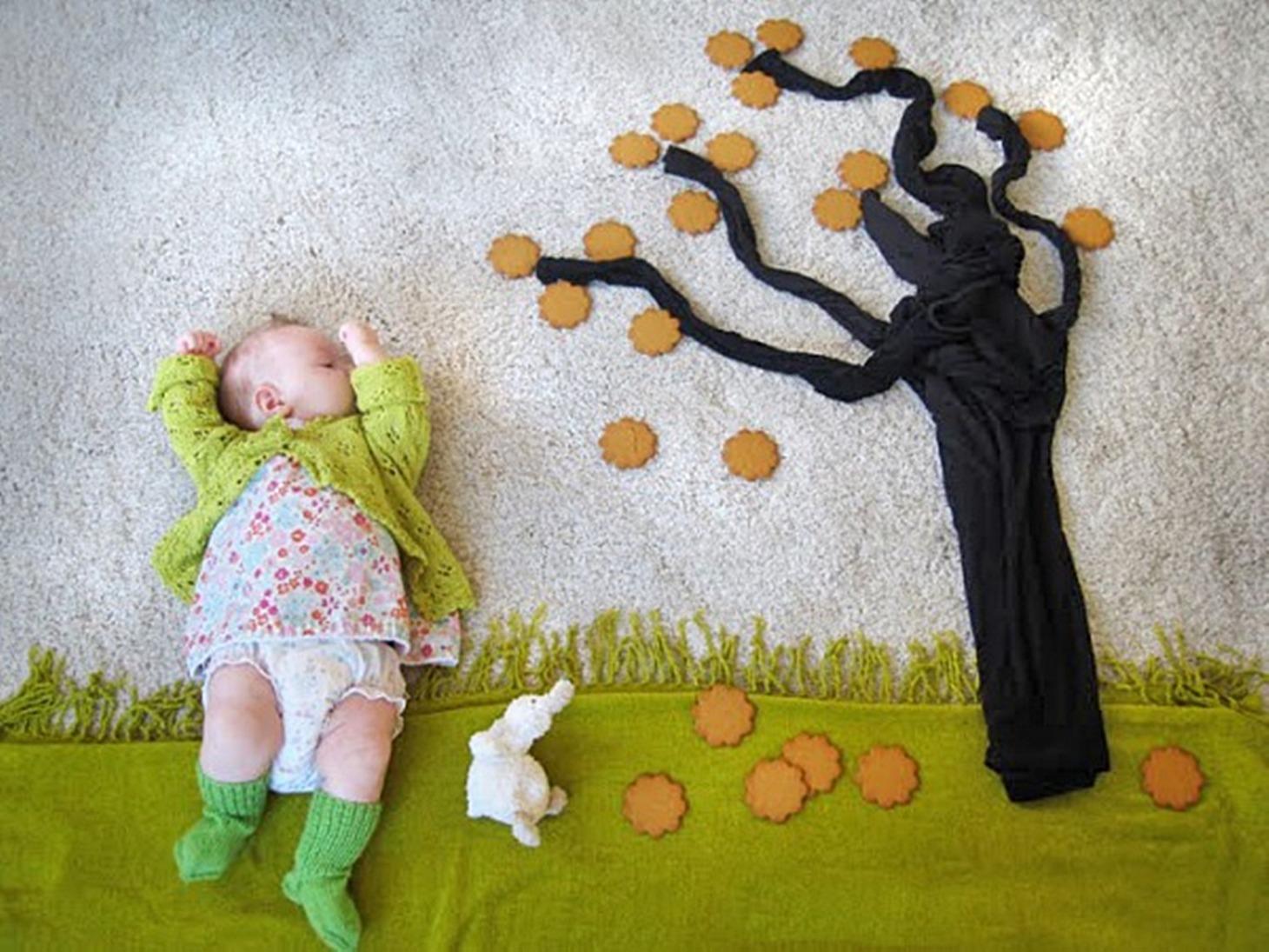Идеи для домашнего фото с маленькими детьми