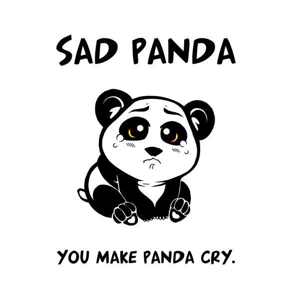 Грустная панда картинки
