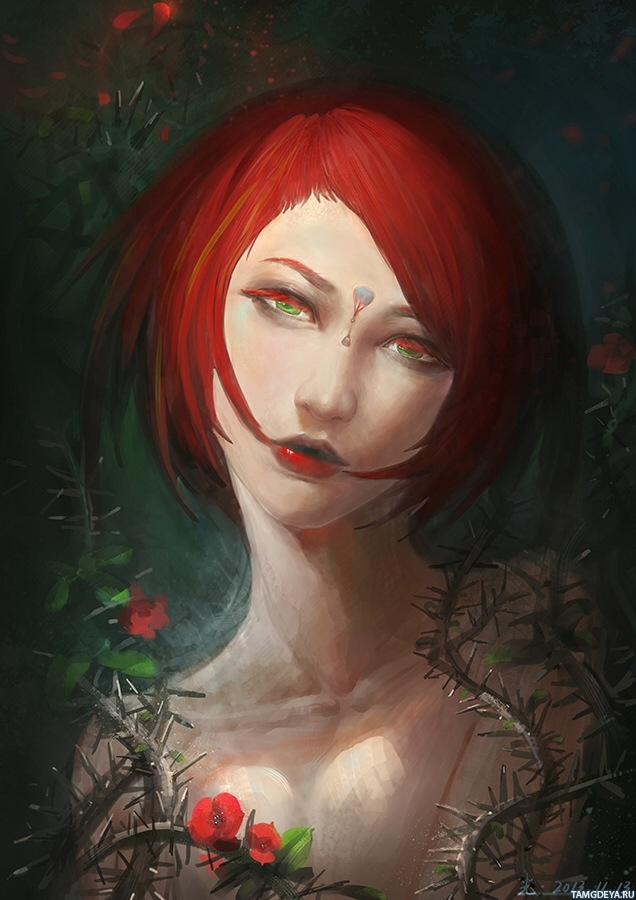 Поро с девушками с красными волосами 2 фотография