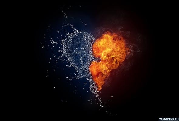 с сердцем из огня и воды. Аватар ...: avatarko.ru/kartinka.php?id=2243