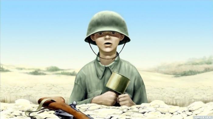 Картинки девушка с солдатом