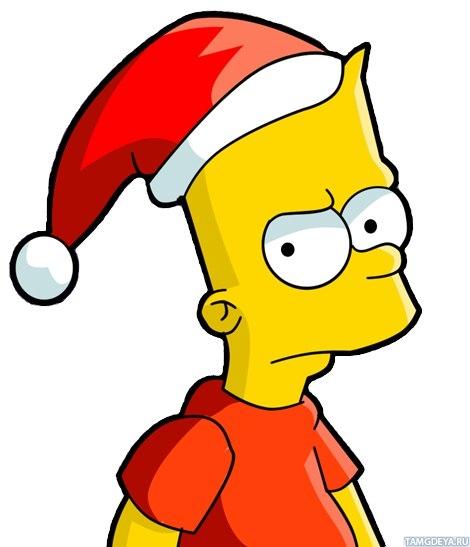 Симпсон в новогодней шапке - аватары ...: avatarko.ru/pic.php?id=70118