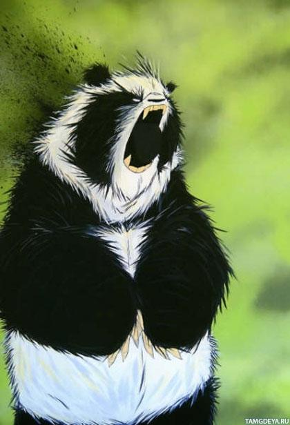 Картинки череп панды