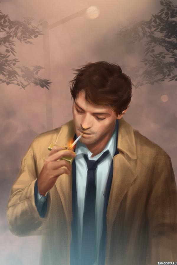 ава с сигаретой: