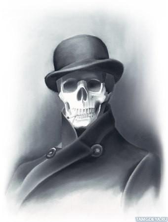 аватарка скелет: