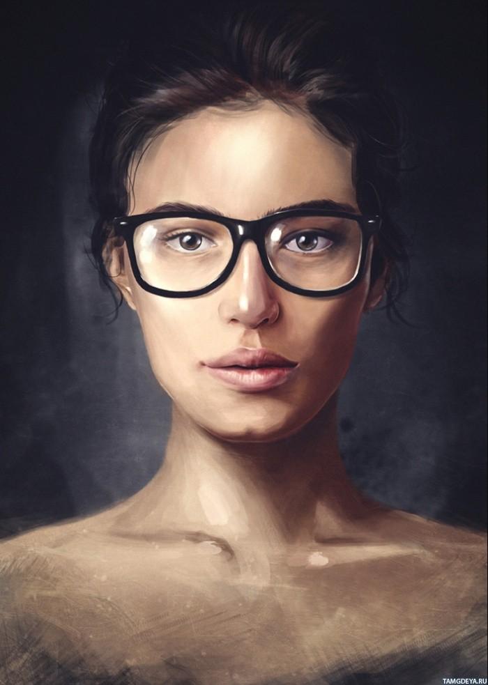 Секс с замужней брюнеткой в очках 12 фотография