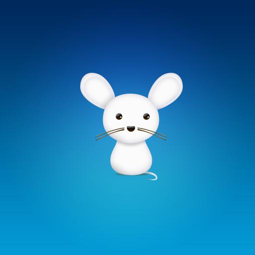 Аватар с белой мышкой на синем фоне ...: avatarko.ru/kartinka.php?id=1545