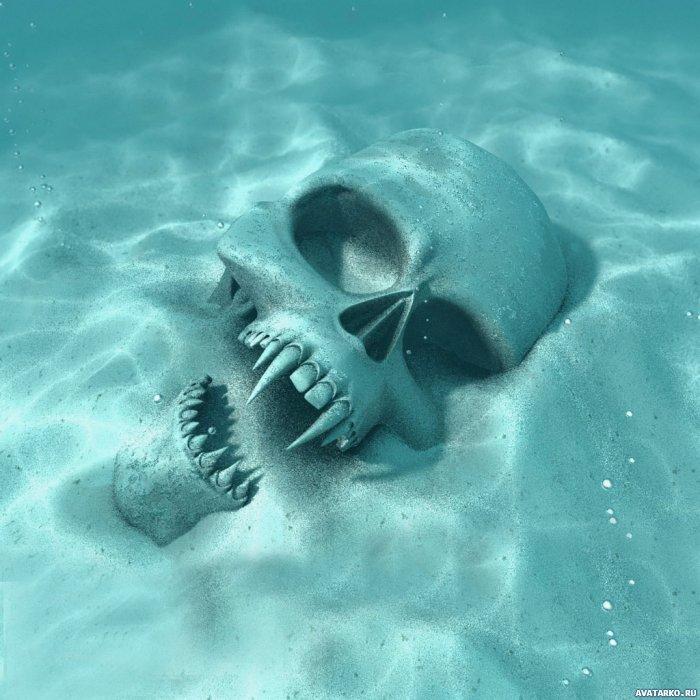 аватар с черепом с клыками под водой ...: avatarko.ru/kartinka.php?id=542