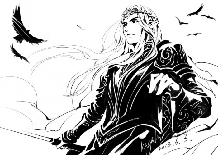 Чёрно-белый рисунок с длинноволосым ...: www.avatarko.ru/pic.php?id=65631
