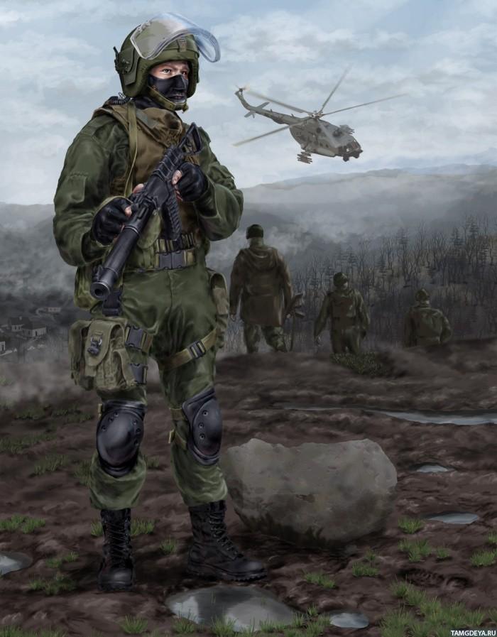 ... солдат с автоматом | Тэги: Солдаты: avatarko.ru/pic.php?id=85425