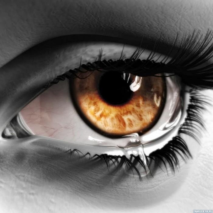 Картинки со девушка слезами на глазах