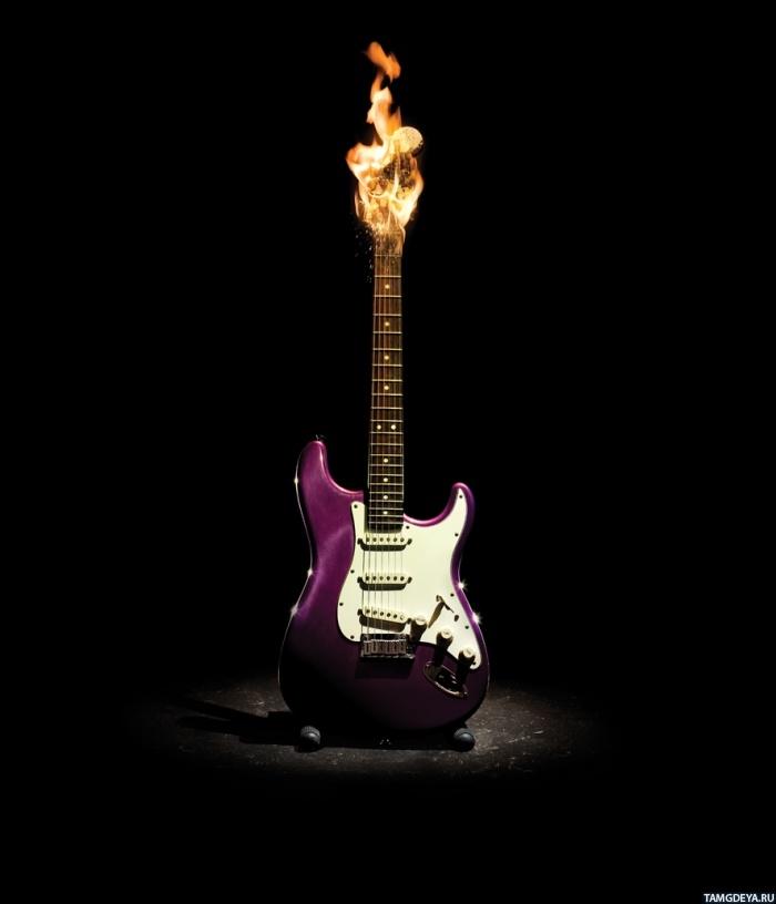 Горящая гитара