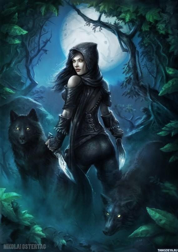 Девушки волки картинки